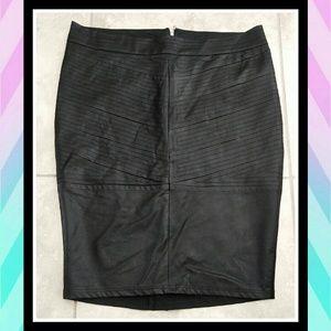 TORRID Faux Leather Chevron Pattern Pencil Skirt